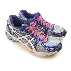 Asics Shoes - Asics Womens Blue Pink Gel Exalt 2 DuoMax Athletic